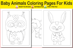 Baby Animals Coloring Pages Graphic Coloring Pages & Books Adults By Pro Designer