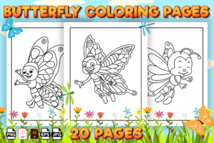 Print on Demand: Cute Butterfly Coloring Pages for Kids Graphic Coloring Pages & Books Kids By Kristy Coloring