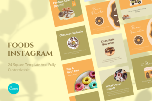 Food Canva Instagram Template Graphic Graphic Templates By kawalan.studio