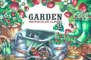 Gardening Watercolor Clipart Graphic Illustrations By rembrantd.ulya