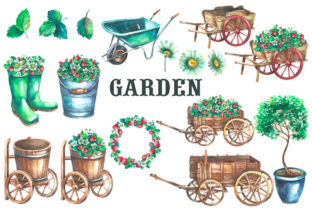 Gardening Watercolor Clipart Graphic Illustrations By rembrantd.ulya 3