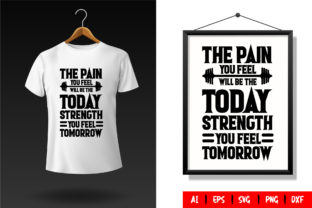 Gym T-Shirt Design Template 01 Graphic Print Templates By TriDraw