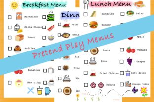Pretend Play Menus, Activities for Kids. Graphic K By AfifShop