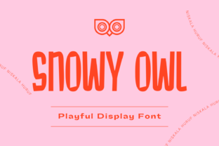 Print on Demand: Snowy Owl Display Font By nhfonts