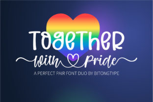 Print on Demand: Together with Pride Script & Handwritten Font By BitongType 1