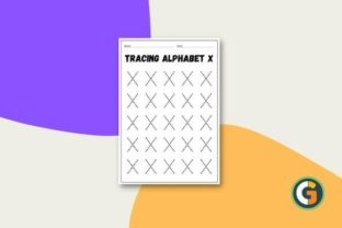 Tracing Alphabet X Worksheet Graphic PreK By CG Education