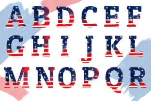 4th of July Alphabet Sublimation PNG Graphic Illustrations By Hippogifts 2