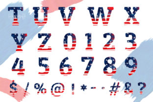 4th of July Alphabet Sublimation PNG Graphic Illustrations By Hippogifts 3