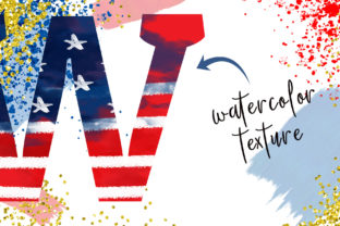 4th of July Alphabet Sublimation PNG Graphic Illustrations By Hippogifts 4