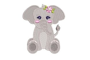 Baby Elephant Baby Animals Embroidery Design By Embroidery Designs