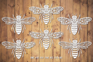 Bee Monogram Graphic 3D SVG By goodfox86 3