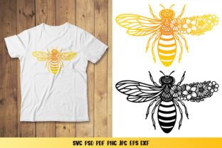 Bee Monogram Graphic 3D SVG By goodfox86 4