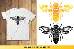 Bee Monogram Graphic 3D SVG By goodfox86 6