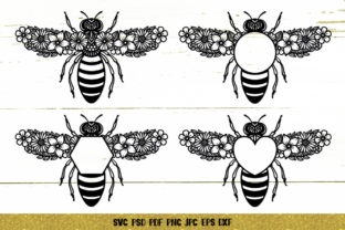 Bee Monogram Graphic 3D SVG By goodfox86 7