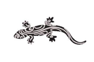 Black and White Lizard Reptiles Embroidery Design By Embroidery Designs