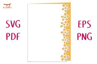 Buttercups Lace Edged Card SVG Cut File Graphic 3D SVG By Nic Squirrell