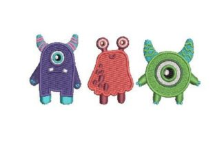 Cute Monster Set Fairy Tales Embroidery Design By Embroidery Designs