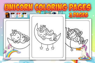 Cute Unicorn Coloring Pages Graphic Coloring Pages & Books Kids By Annaart