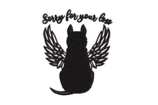 Dog with Wings Remembrance Embroidery Design By Embroidery Designs