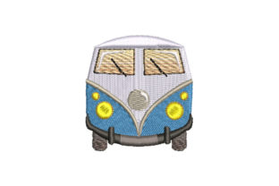 Print on Demand: Front Side of a Van Travel & Season Embroidery Design By Dizzy Embroidery Designs