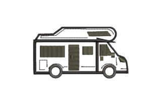 Print on Demand: Simple Van Sketch Travel & Season Embroidery Design By Dizzy Embroidery Designs