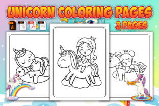 Unicorn Coloring Pages Graphic Coloring Pages & Books Kids By Annaart