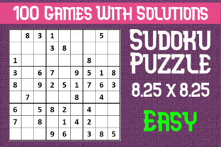 Print on Demand: 100 Sudoku Puzzle Game with Solution Graphic KDP Interiors By Mary's Designs
