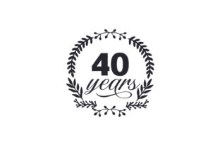 40 Years Anniversary Craft Cut File By Creative Fabrica Crafts