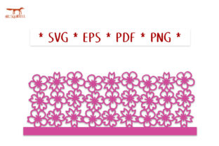 Cherry Blossom Spring Lantern SVG Cut Graphic 3D SVG By Nic Squirrell 2
