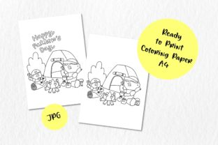 👨👦 Father & Son Go Camping🏕️ Graphic Coloring Pages & Books Kids By Bonalisa Smile 3