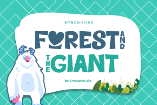 Print on Demand: Forest and the Giant Display Font By EmbunStudio 1