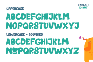 Print on Demand: Forest and the Giant Display Font By EmbunStudio 5