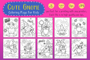 Print on Demand: Gnome Coloring Book for Kids Graphic Coloring Pages & Books Kids By nattyinshop