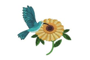 Hummingbird Watercolor Birds Embroidery Design By Embroidery Designs