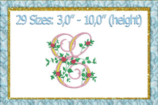 Print on Demand: Letter E Wedding Embroidery Design By larisaetsy