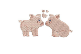 Micro Pigs Farm Animals Embroidery Design By Embroidery Designs
