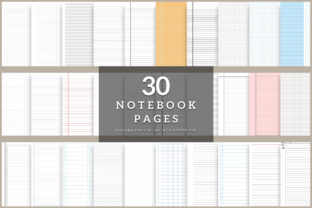 Print on Demand: Printable Notebook Paper 35 Pages Graphic KDP Interiors By AmitDebnath 1