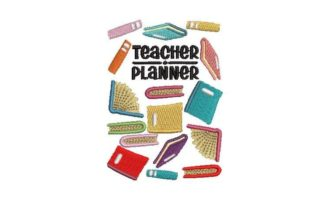 Teacher Planner Cover School & Education Embroidery Design By Embroidery Designs