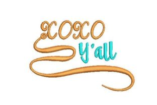 XOXO Y'All Teenagers Embroidery Design By Embroidery Designs