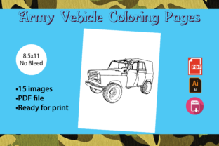 Print on Demand: Army Vehicle Coloring Pages Graphic Coloring Pages & Books Kids By Zing Zang 1