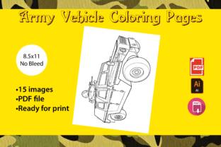 Print on Demand: Army Vehicle Coloring Pages Graphic Coloring Pages & Books Kids By Zing Zang 2