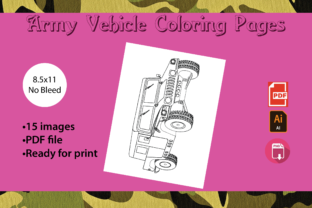 Print on Demand: Army Vehicle Coloring Pages Graphic Coloring Pages & Books Kids By Zing Zang 3