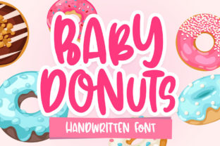 Print on Demand: Baby Donuts Display Font By dmletter31