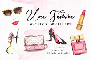 Print on Demand: Fashion Accessories Watercolor Clip Art Graphic Illustrations By artbylin