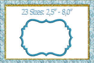 Frame Applique Borders Embroidery Design By larisaetsy