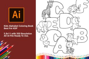 Print on Demand: Kids Alphabet Coloring Book Best for KDP Graphic Coloring Pages & Books Kids By DigitalMGoods 1