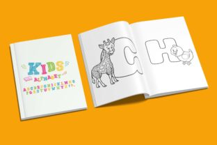 Print on Demand: Kids Alphabet Coloring Book Best for KDP Graphic Coloring Pages & Books Kids By DigitalMGoods 2