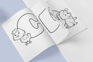 Print on Demand: Kids Alphabet Coloring Book Best for KDP Graphic Coloring Pages & Books Kids By DigitalMGoods 3