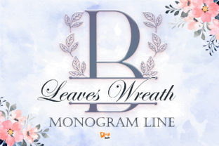 Print on Demand: Leaves Wreath Decorative Font By dmletter31