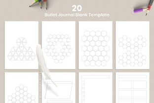 Print on Demand: Printable Bullet Journal 20 Pages Graphic KDP Interiors By AmitDebnath